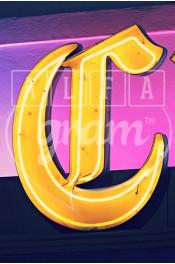 Alphabet photography, alfagram, letter art, C photo gift, Yellow sign