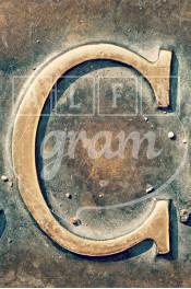 Alphabet photography, alfagram, letter art, C photo gift, bronze