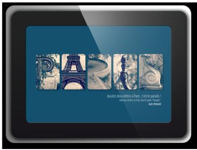 Alphabet photographique. Cadre inspiration Chance, Un cadeau personnalisé et original. Idée cadeaux. Paris