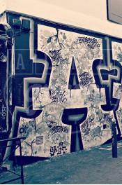 Alphabet photography. Alfagram, Letter art A. Personalized letter art. Perfect gift using alphabet photos. Graffiti in Paris.