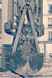 Alphabet photography. Alfagram, Letter art A. Personalized letter art. Perfect gift using alphabet photos. Construction site Paris