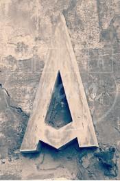 Alphabet photographique. Alfagram, lettre A. Objet déco. Un cadeau photo personnalisé et original. Restaurant à Rome