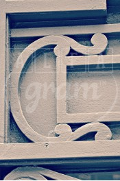 Alphabet photography. Alfagram, Letter art C. Personnalized letter art. Perfect gift using alphabet photos. Old wall Roma