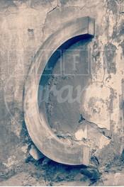 Alphabet photography. Alfagram, Letter art C. Personnalized letter art. Perfect gift using alphabet photos. Old town Roma.