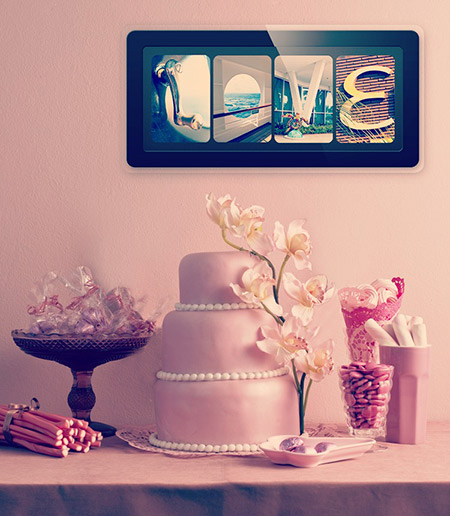 id e cadeau cadre photos lettres tableau photo personnalis cadeau de mariage. Black Bedroom Furniture Sets. Home Design Ideas